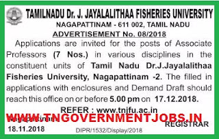 tnfu-drjjfu-nagapattinam-associate-professor-posts-recruitment-notification-tngovernmentjobs-in