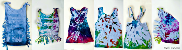 tie dye upcycle refashion shirts