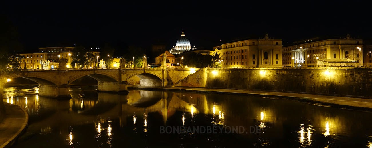 Ponte Vittorio Emmanuele, Rome, Bond 24 location