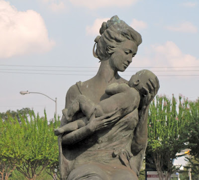 """Love"" - Mother and Child sculpture at St. Joseph's Hospital Maternity Ward"