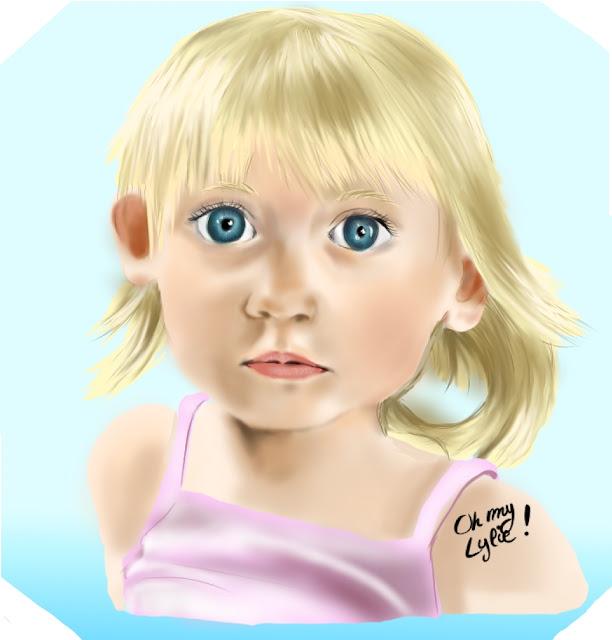 Big eyes signifie Grand yeux et cette petite fille a de big yeux de mignonne.