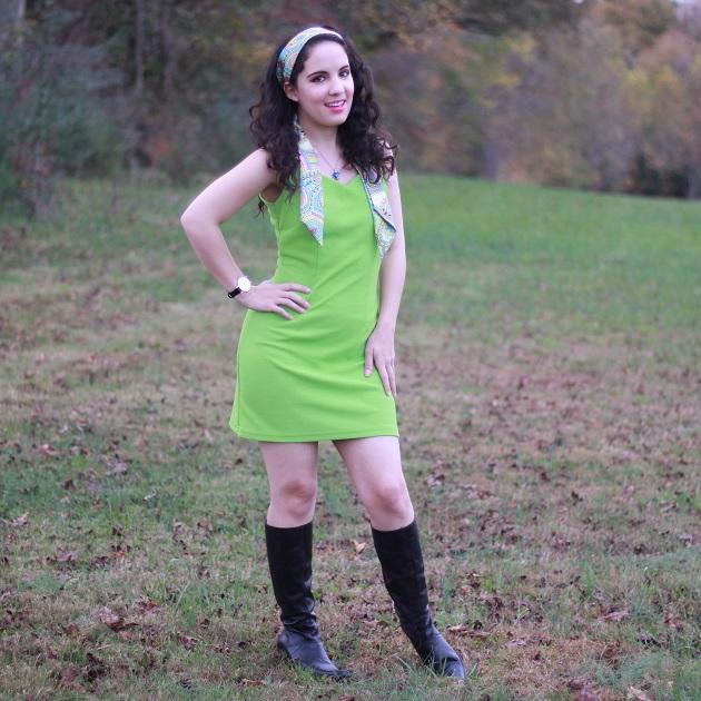 60's Green Dress