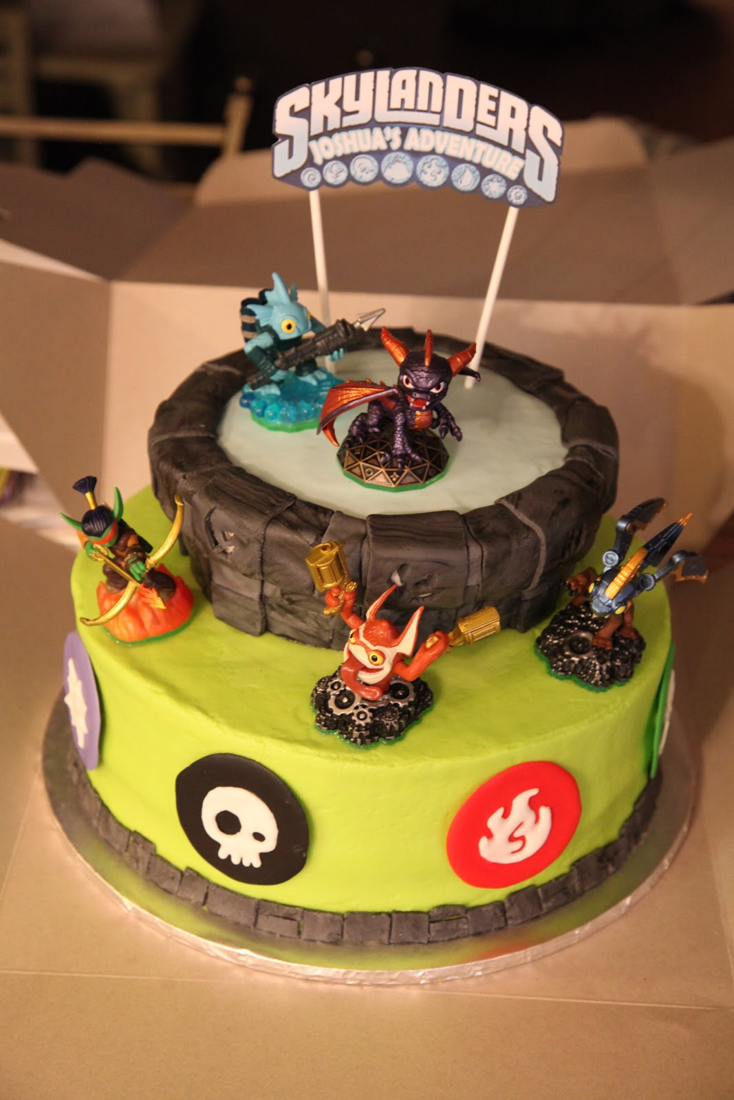 The Cake Box Girls Skylanders Birthday Cake