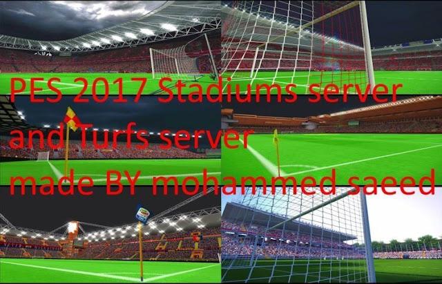Pack Stadiums Server PES 2017