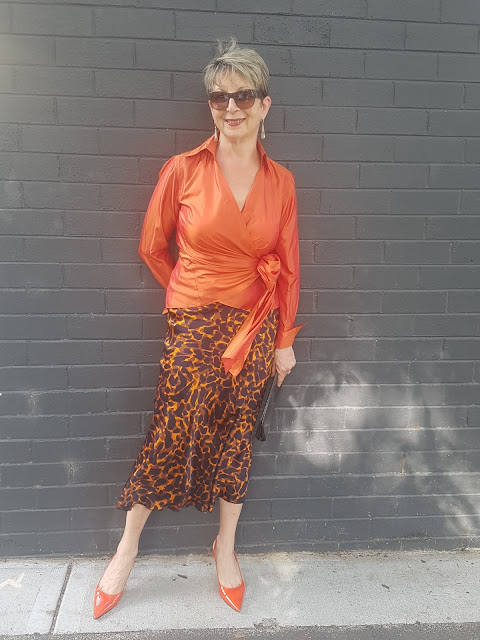 Maxi silk skirt in Cheetah print from Tuchuzi