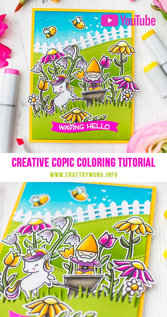 Lawn Fawn Spring Series | Creative Copic Coloring - Mona Toth