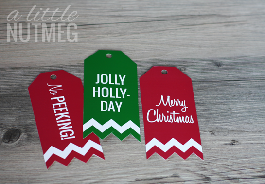 free printable Christmas gift tags // www.alittlenutmeg.com