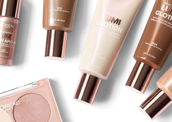 L'Oreal True Match Lumi Collection Glotion Nude Glow Amour Shimmerista Highlighters Review