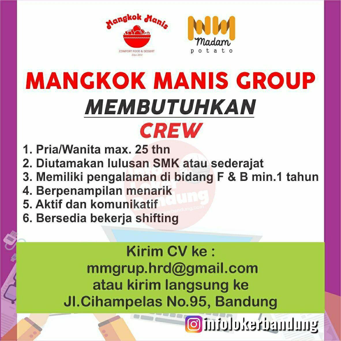 Lowongan Kerja Mangkok Manis Group Bandung April 2019