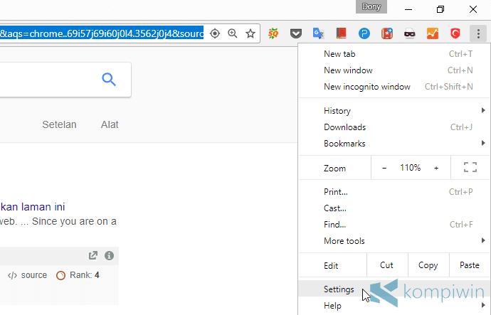 hilangkan pemberitahuan website
