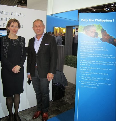 Ernest Cu with Anne Bouverot