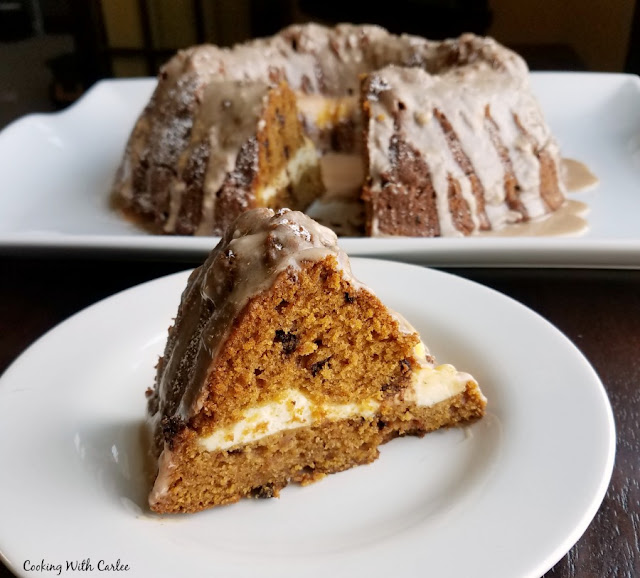 Cheesecake Stuffed Pumpkin Bundt Cake
