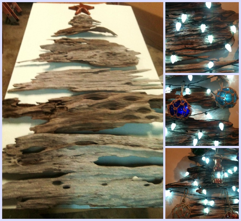 Christmas driftwood tree