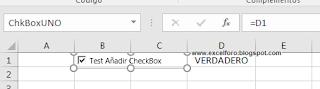 VBA: Insertar un CheckBox en nuestra Hoja con macros