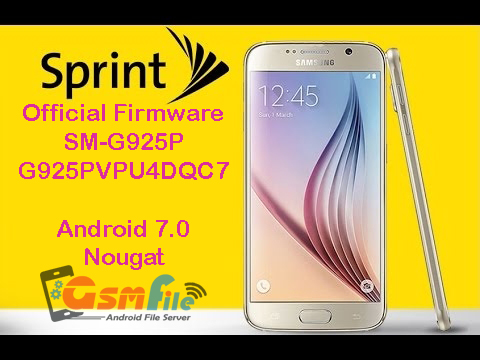 Firmware download for Galaxy S6 Edge SM-G925P - G925PVPU4DQC7