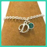 Birthstone Initial Bracelet