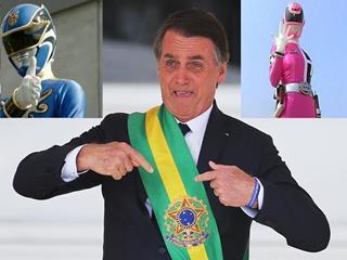 Nunca vi homem Power Ranger rosa, nem mulher Power Ranger Azul, diz Bolsonaro.
