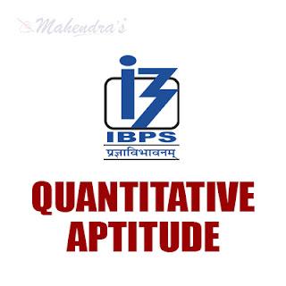 Quantitative Aptitude Questions For IBPS Clerk Prelims : 11 -11-17