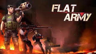 تحميل لعبة Flat Army Sniper War مهكرة نقود لا نهاية