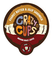 Peanut Butter and Jelly Sandwich Flavored Coffee logo