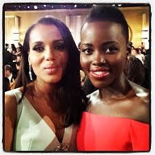 Lupita Nyong'o and Kerry Washington