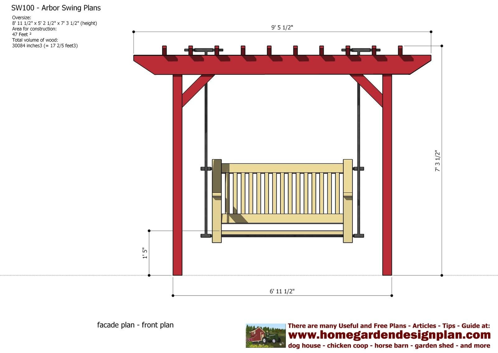 Swing Chair Plan Office Desk Floor Mats Home Garden Plans Sw100 Arbor