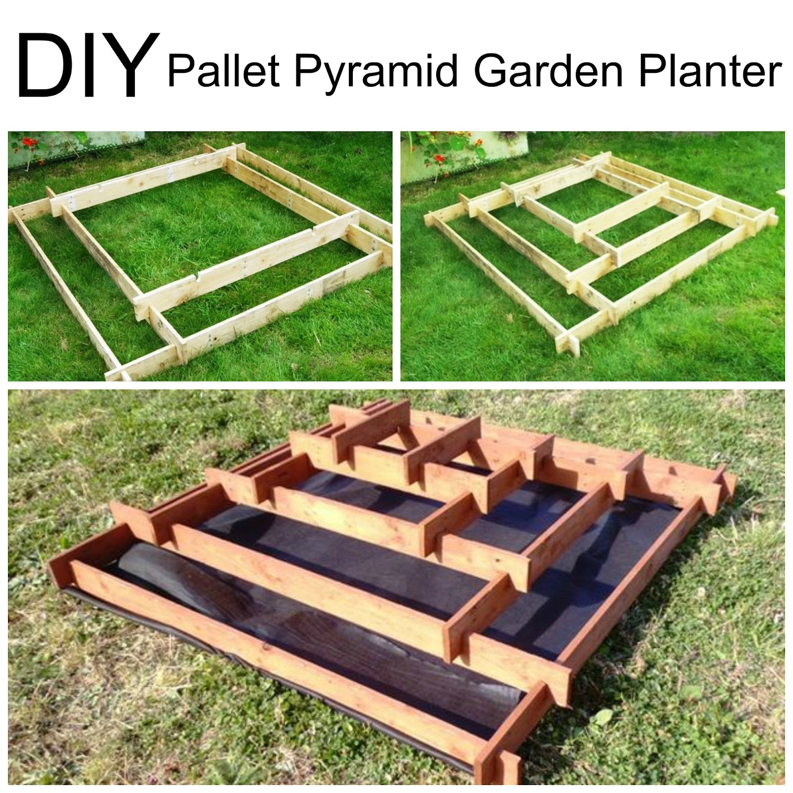 Diy Pallet Pyramid Garden Planter This Gorgeous Takes About 2 Hours To Make But Is Simple Enough For A Beginner
