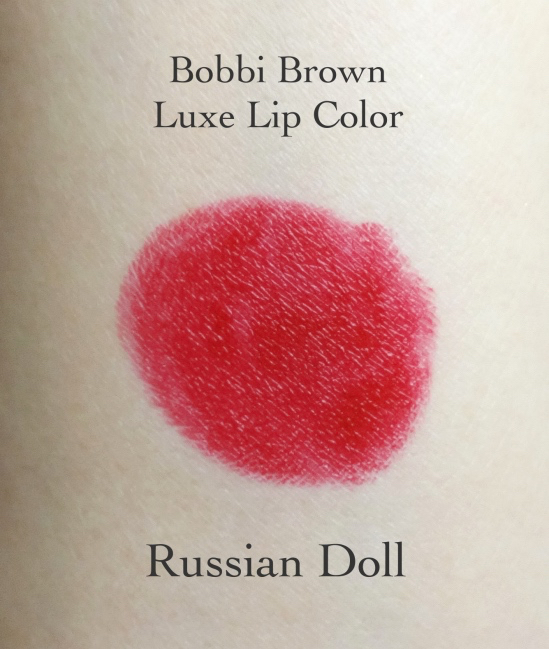 Bobbi Brown Luxe Lip Color Russian Doll swatch