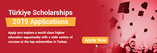 Türkiye Government Scholarships for Undergraduate & Postgraduate Studies 2019/2020