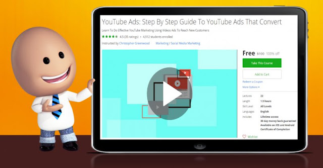 [100% Off] YouTube Ads: Step By Step Guide To YouTube Ads That Convert| Worth 100$