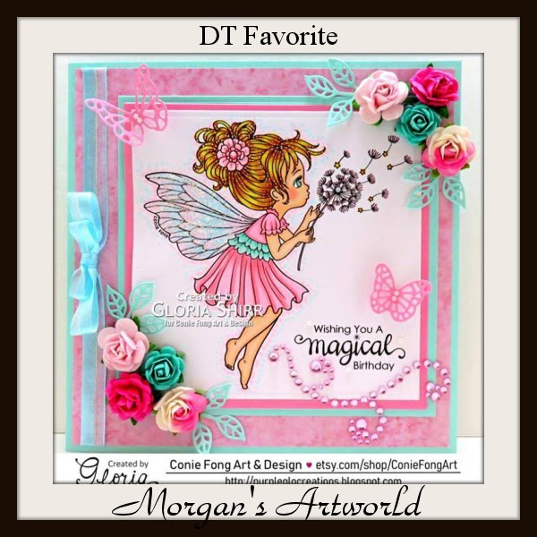 Featured card at Morgan's Artworld Challenge Blog