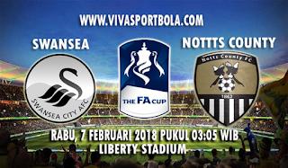 Prediksi Swansea City vs Notts County 7 Februari 2018