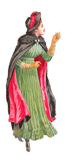 fashion antique dress illustration