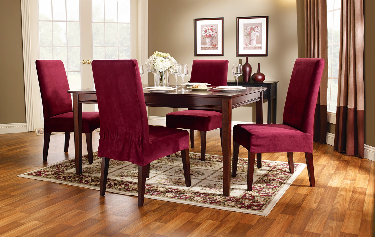 Dining Chair Covers Velvet Back Sure Fit Slipcovers Super Easy Way To Pretty Up Those