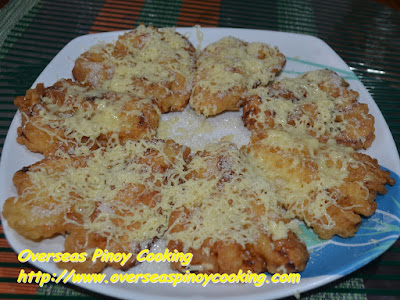 Cheesy Maruya, Fried Banana with Cheese
