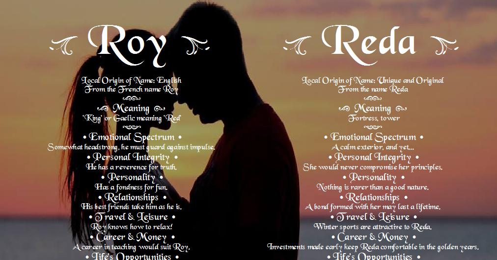Roy and Reda - Angies Creation Dual Names