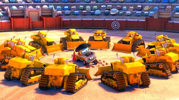 Bulldozers all around me.