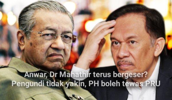 Anwar, Dr Mahathir terus bergeser?