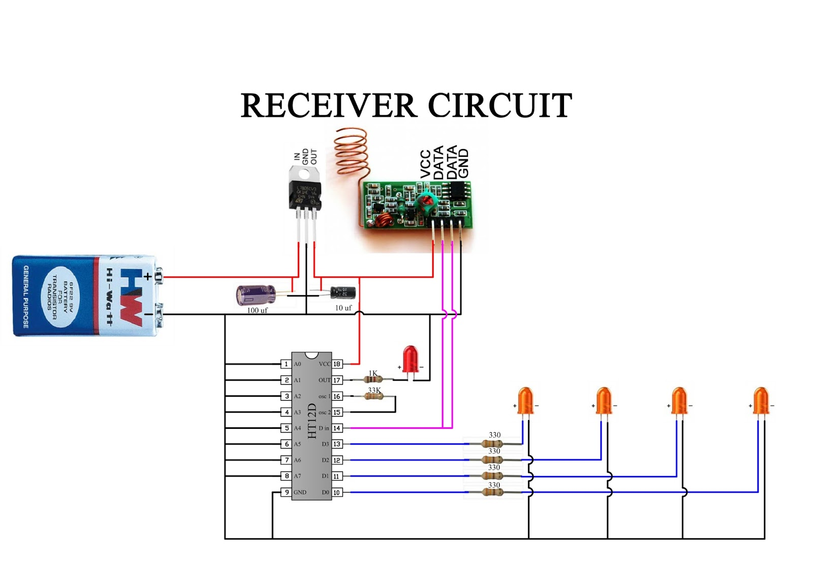 How to Check HT12E & HT12D IC Working (Wired and Wireless)