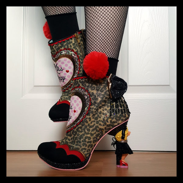 Irregular Choice Disney Muppets Fierce Piggy boots side view