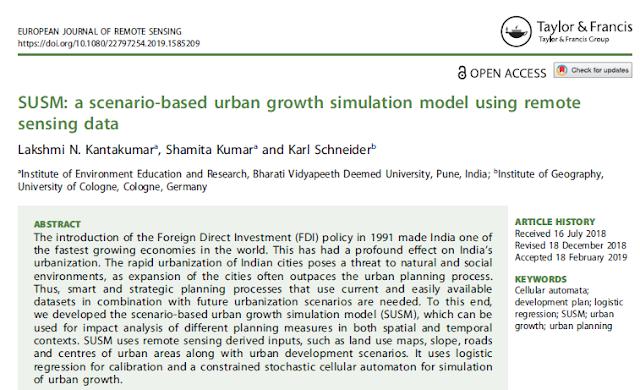 SUSM: A Scenario-Based Urban Growth Simulation Model Using Remote Sensing Data [PAPER]