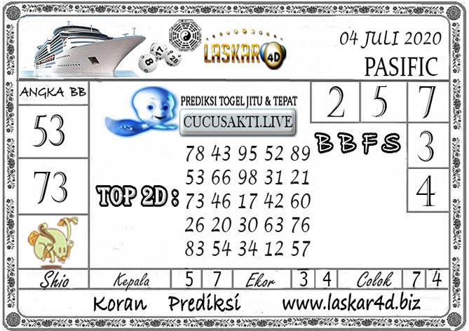 Prediksi Togel PASIFIC LASKAR4D 04 JULI 2020