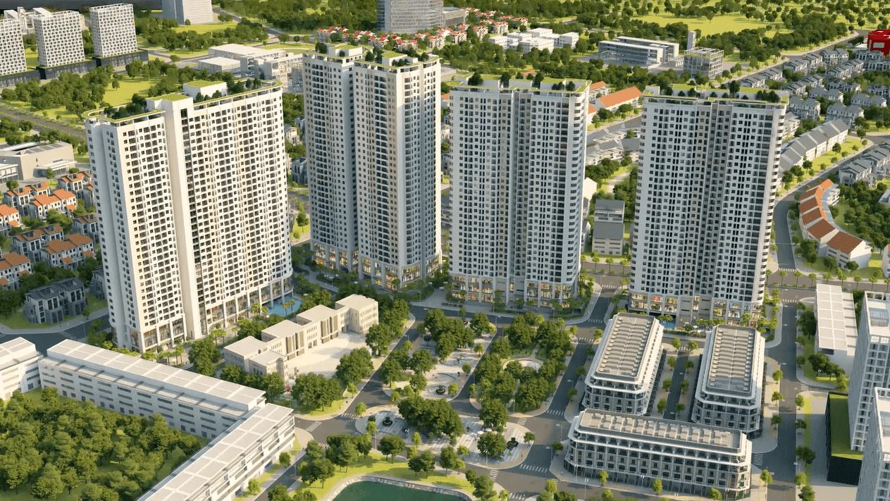 Phối cảnh quần thể đô thị dự án chung cư Gelexia Riverside