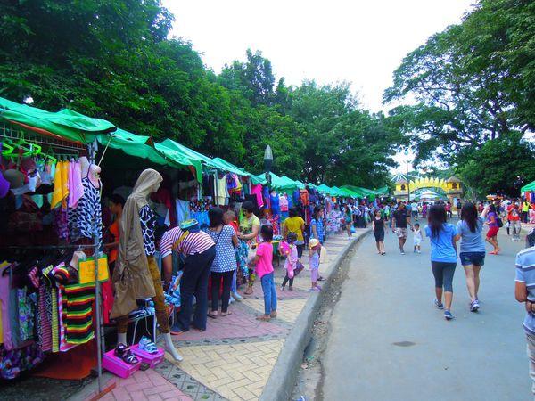 Bazaar inside Quezon City Memorial Circle