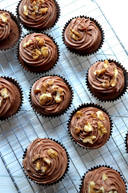 Maple Spice Brownie Cupcakes