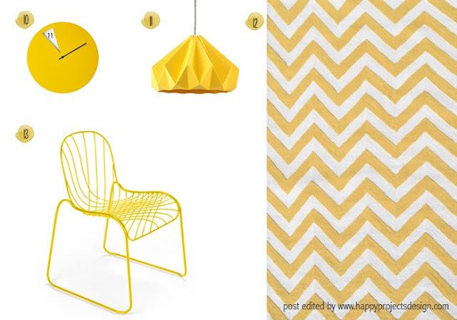 Decoración interior: complementos del hogar en amarillo
