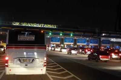97.000 Ribu Kendaraan Bakal Masuk Tol Cikarang Malam Ini