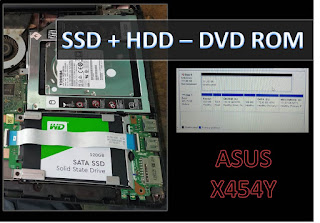 Cara Memasang SSD dan Hard Disk (HDD) ke  dalam satu Laptop