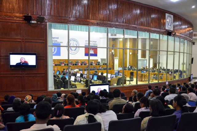 Audience members view proceedings at the Khmer Rouge tribunal in January. ECCC