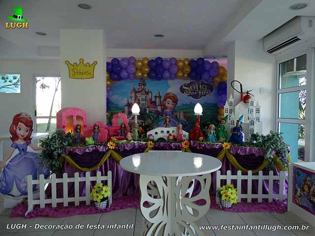 Decoração Princesinha Sofia para festa infantil - Barra - RJ